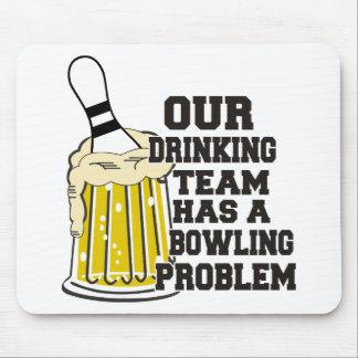 Notre équipe potable a un problème de bowling tapis de souris