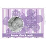 Notre faire-part de naissance de bébé customisé pa cartes de vœux