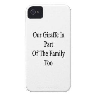 Notre girafe fait partie de la famille aussi coques iPhone 4