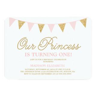 Notre invitation d'anniversaire de la princesse |