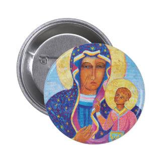 Notre Madame de Czestochowa Madonna noir Pologne Badge