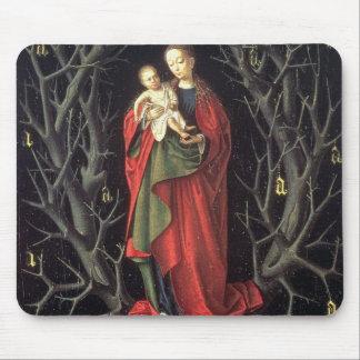 Notre Madame de l'arbre sec c.1450 (huile sur le p Tapis De Souris