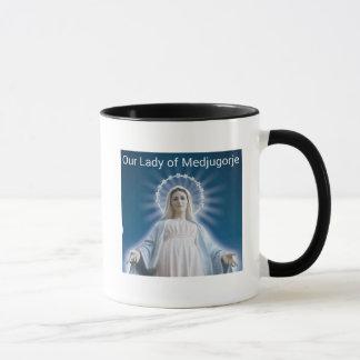 Notre Madame de tasse de café de Medjugorje