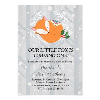 Notre petite invitation d'anniversaire de Fox