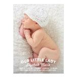 Notre petite Madame faire-part de naissance