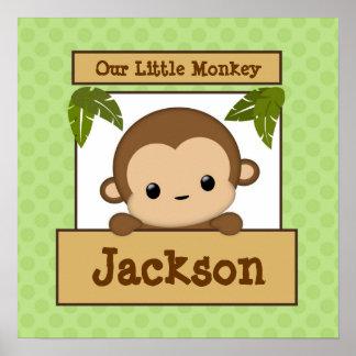 Notre petite nom personnalisé d'art de singe par posters