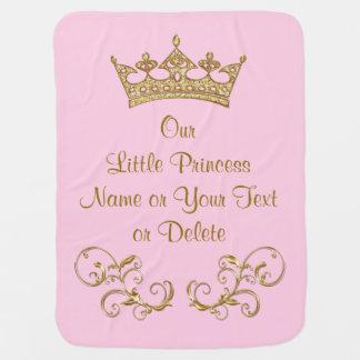 Notre petite princesse Baby Blanket PERSONALIZED Couverture Pour Bébé
