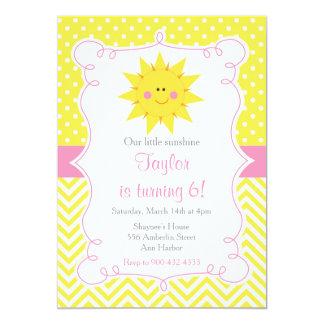 Notre peu d'anniversaire de soleil carton d'invitation  12,7 cm x 17,78 cm