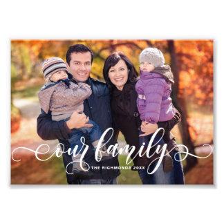 Notre photo de famille moderne de recouvrement de