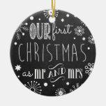Notre premier Noël comme M. et Mme Ornament Ornements De Noël
