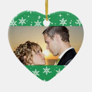 Notre premier ornement de photo de mariage de