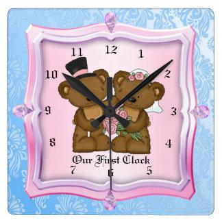 Notre première horloge de mariage