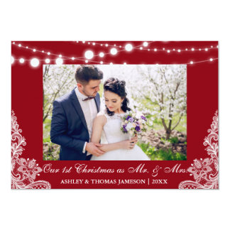 Notre premiers M. et Mme carte photo R de Noël