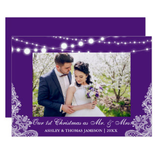 Notre premiers M. et Mme PB de Noël de carte photo