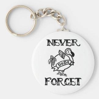 N'oubliez jamais la dronte porte-clé rond