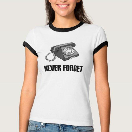 N'oubliez jamais le T-shirt rotatoire de téléphone