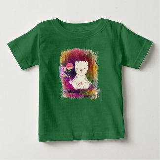 Nounours de Colorburst de joyeux anniversaire T-shirt Pour Bébé