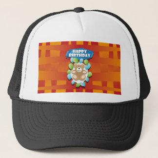 Nounours de joyeux anniversaire d'illustration casquette