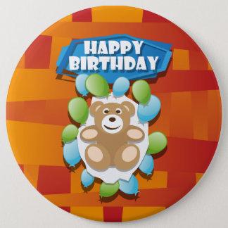 Nounours de joyeux anniversaire d'illustration pin's