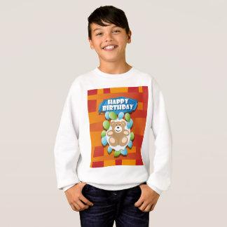 Nounours de joyeux anniversaire d'illustration sweatshirt