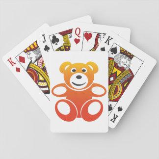 Nounours de sourire d'été cartes à jouer