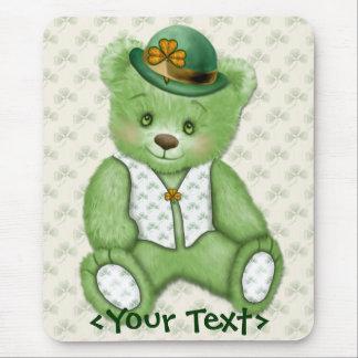 Nounours irlandais - vert tapis de souris