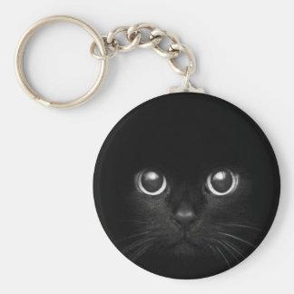 Nounours le chat porte-clé rond