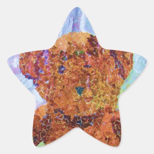 Nounours mignon autocollants en étoile