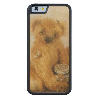 Nounours mignon d'ours de miel coque iPhone 6 bumper en érable