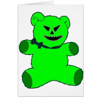 Nounours vert carte de vœux