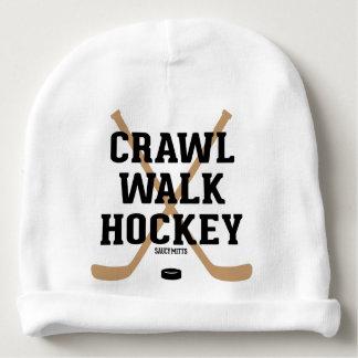 Nourrisson mignon de bébé d'hockey de promenade de bonnet de bébé