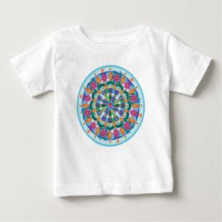 Nourrisson T de mandala de Poissons T-shirt Pour Bébé