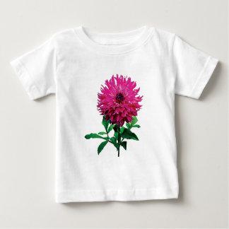 Nourrissons magenta d'Elsie Huston de dahlia T-shirt Pour Bébé