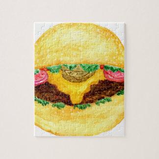 Nourriture 2 d'hamburger puzzle