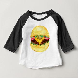 Nourriture 2 d'hamburger t-shirt pour bébé