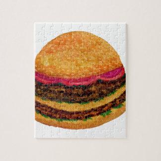Nourriture 3 d'hamburger puzzle