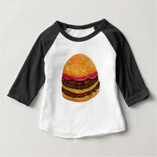 Nourriture 3 d'hamburger t-shirt pour bébé