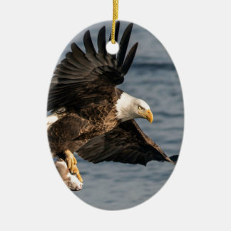 Nourriture contagieuse chauve d'Eagle Ornement Ovale En Céramique