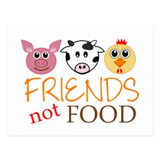 Nourriture d'amis pas carte postale
