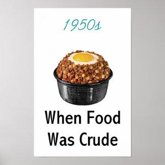 nourriture de brut des années 1950 affiches