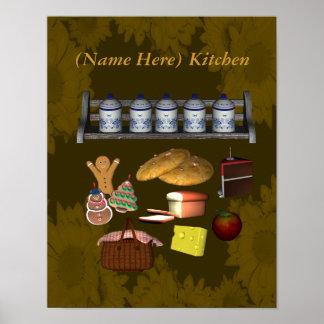 Nourriture de cuisine de pays votre affiche nommée