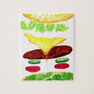 Nourriture d'hamburger puzzle