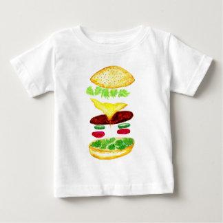Nourriture d'hamburger t-shirt pour bébé