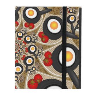 Nourriture drôle d'art de fractale de brunch, coque iPad