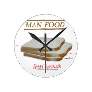Nourriture élégante de l'homme de Fernandes - Horloge Ronde