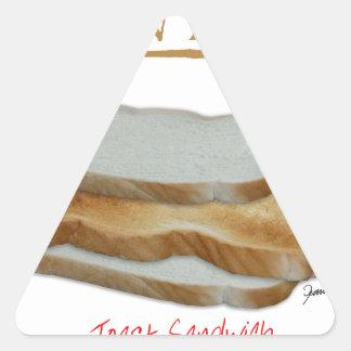 Nourriture élégante de l'homme de Fernandes - Sticker Triangulaire