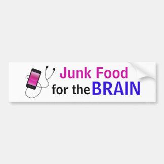 """""""Nourriture industrielle autocollant pour cerveau"""""""