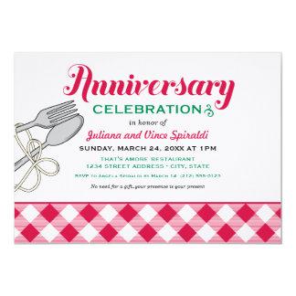 Nourriture italienne de l'invitation | carton d'invitation  12,7 cm x 17,78 cm