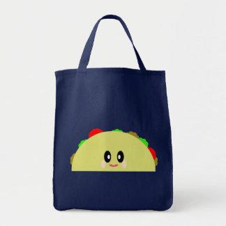 Nourriture mignonne heureuse délicieuse de taco de sac en toile