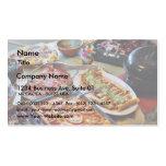 Nourriture pour le wagon-restaurant cartes de visite professionnelles